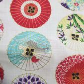 TI-19 Tissu japonais ombrelles blanc
