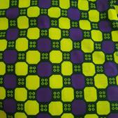 TI-12 Wax carreaux jaune-violet