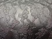 TE-27 Simili cuir effet dentelle noir