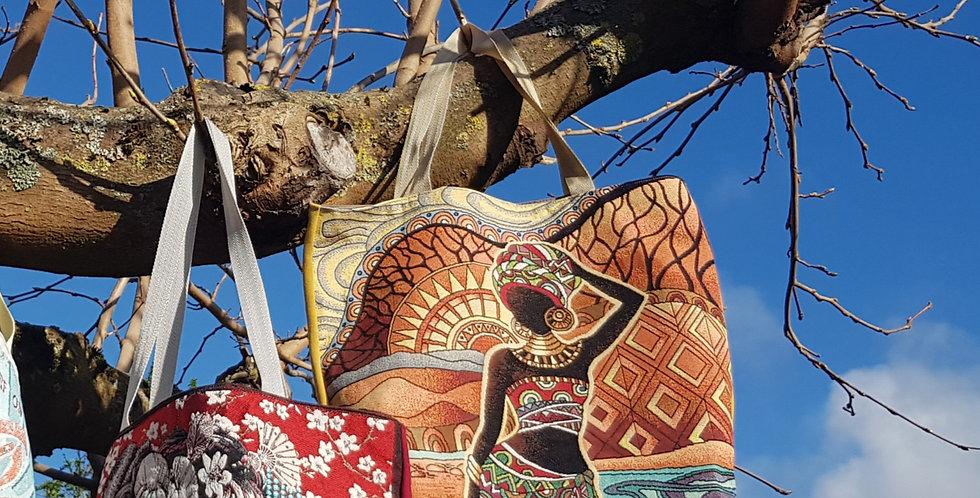 KABA, le sac cabas jacquard - Modèle Africa