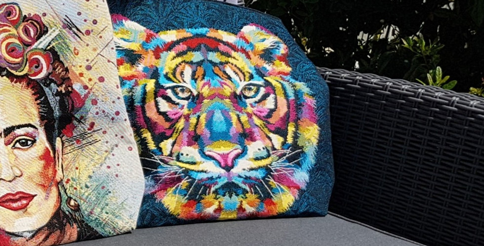 KABA, le sac cabas jacquard - Modèle Tigre multicolore