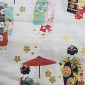 TI-17 Tissu japonais geisha blanc