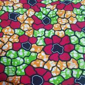 TI-8 Wax fleurs rouge-vert-orange