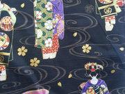 TI-22 Tissu japonais geisha noir