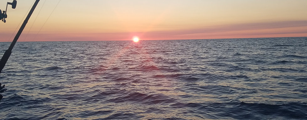 Sunrise Saginaw Bay Walleye Fishing