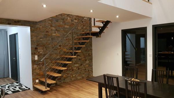 escalier quart tounant haut