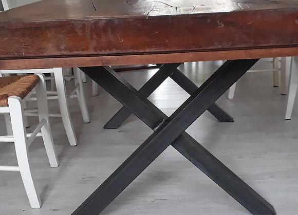 LOT DE 2 PIEDS DE TABLE EN CROIX