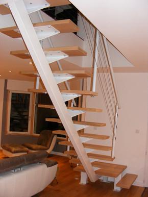 escalier acier avec palier