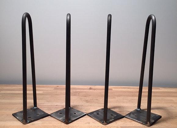 LOT DE 4 HAIRPIN LEGS DEUX BRANCHES ROND DE 6 MM DECALE HAUTEUR 45 CMS