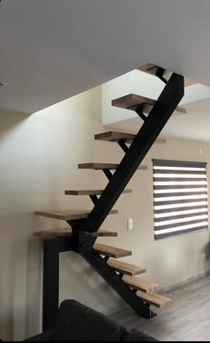 escalier poutre central