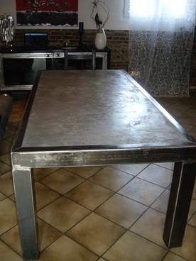 table béton ciré
