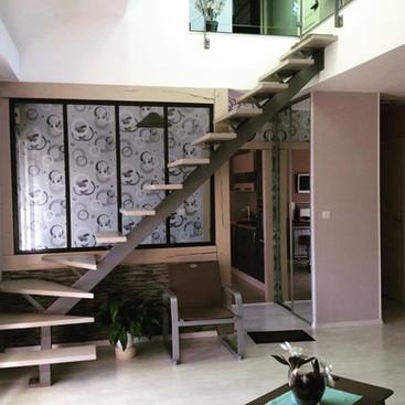 escalier volee de marches
