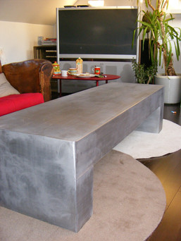 table metal brut