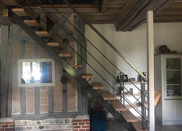 Garde corps en kit lisses tube pour escalier