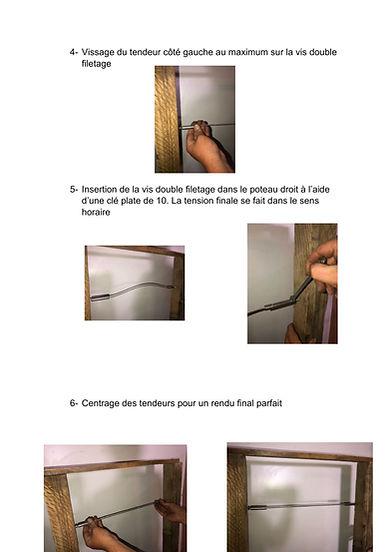 NOTICE DE MONTAGE TENDEUR DE CABLE BOIS