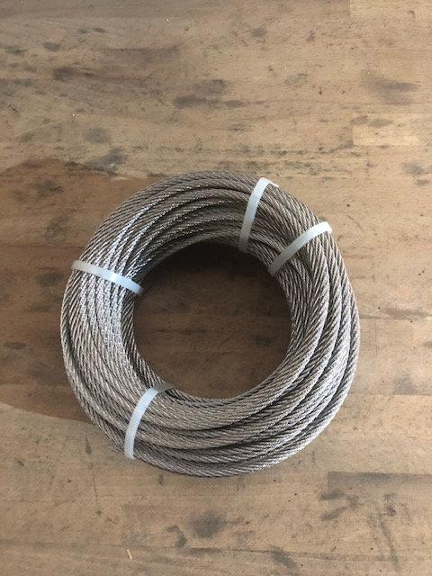 7x7 SET 40m cable 6mm acier inox cordage torons 4 serre-câbles étrie beauco