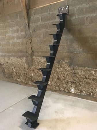 escalier acier droit