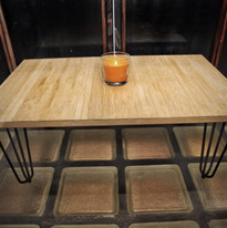 table hairpin legs 4 branches