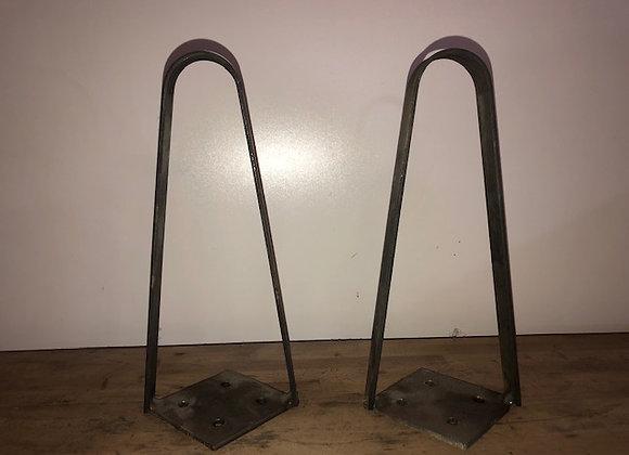 LOT DE 2 HAIRPIN LEGS DEUX BRANCHES PLAT DE 20 MM HAUTEUR 25 CMS