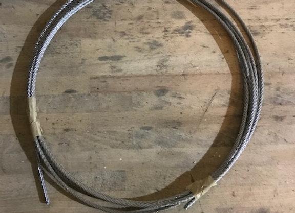 3 m de Câble acier inox 4mm cordage torons 7x7