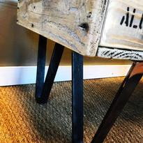 pieds de table palette sncf