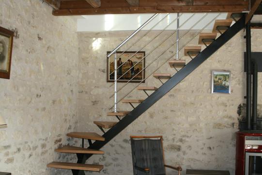 escalier avec volées de marches
