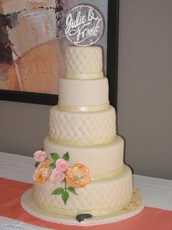Gâteau de mariage Julie & Frank