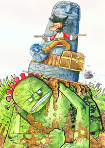 Concept Art for The Adventures of Pirate Jim 2007