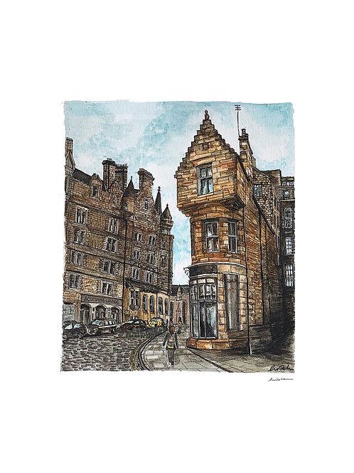 Cockburn Street, Edinburgh A4 Print
