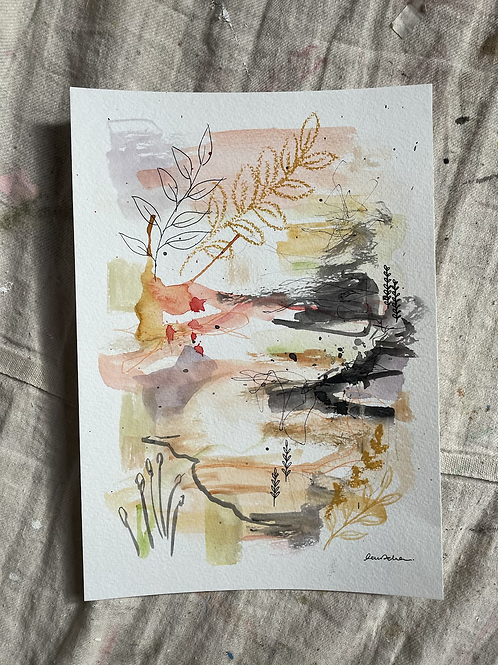 A4 Summer Days Abstract ~ 6