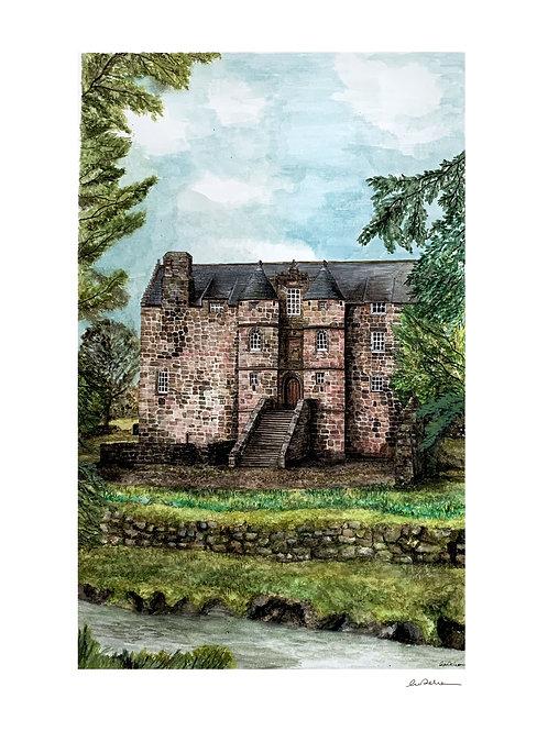 Rowallan Castle, Ayrshire A4 Print