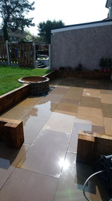 Firepit and patios