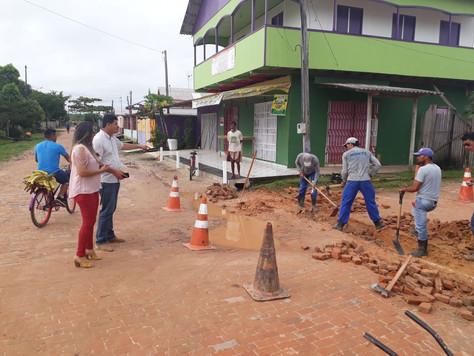 PREFEITURA DE TARAUACÁ CONSTRÓI GALERIA NA RUA SIMÃO LEITE DAMASCENO