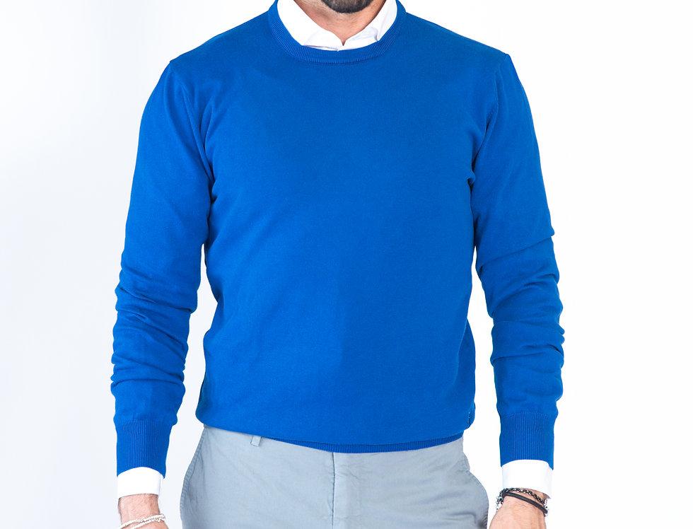 Maglia girocollo blu royal