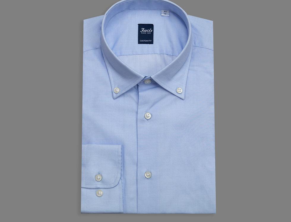 Camicia botton down in twill di puro cotone  celeste