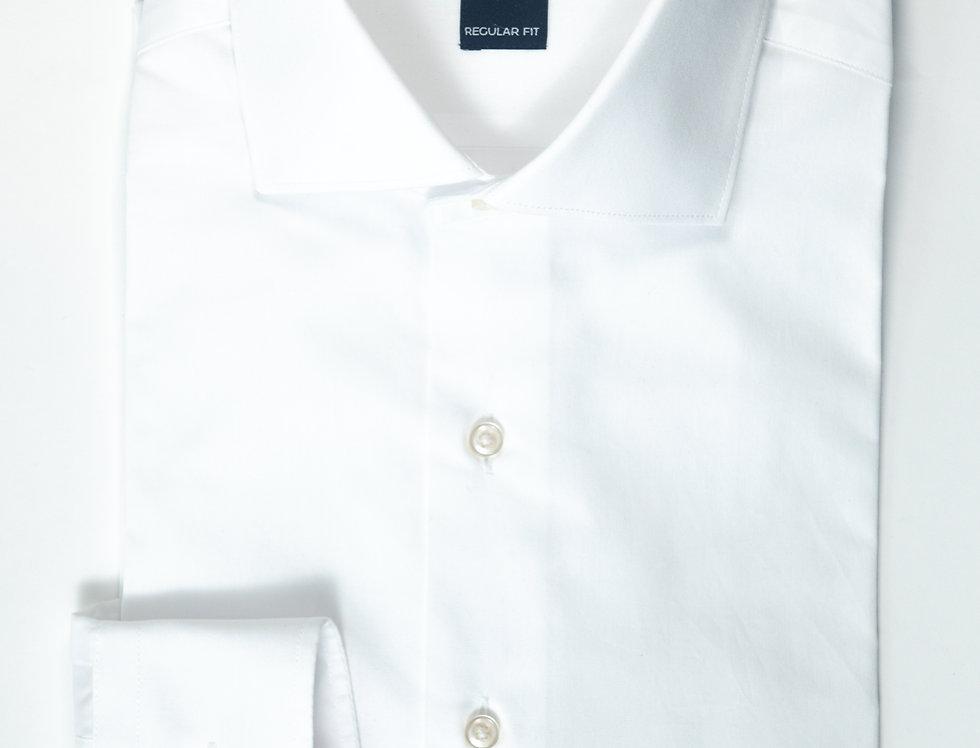 Camicia Regular collo francese Bianco