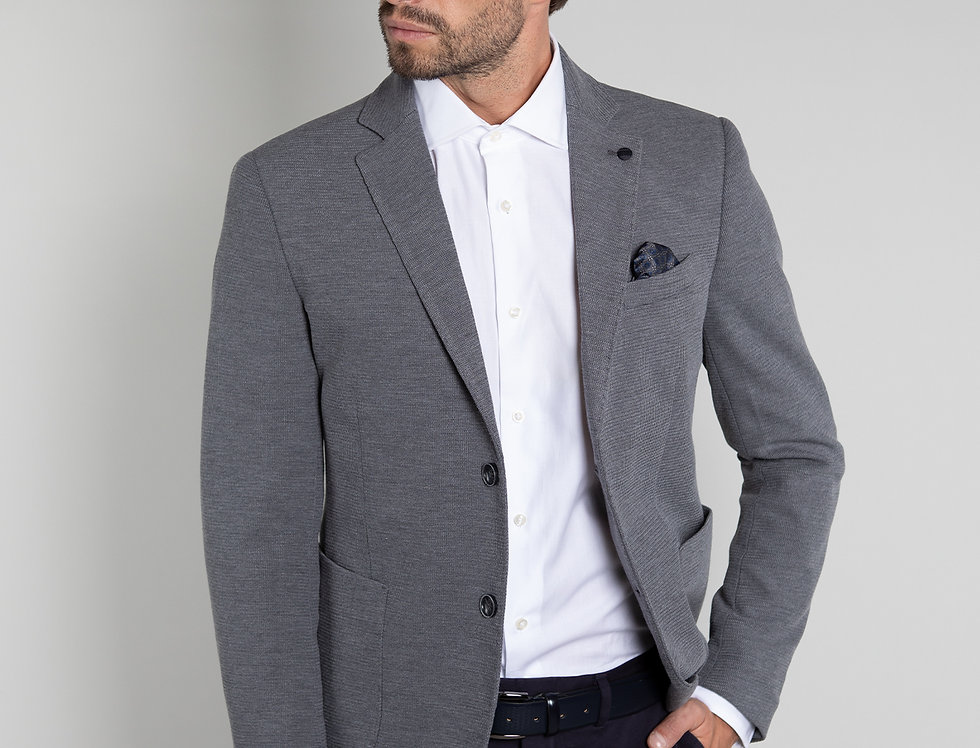 Giacca informale in jersey grigio