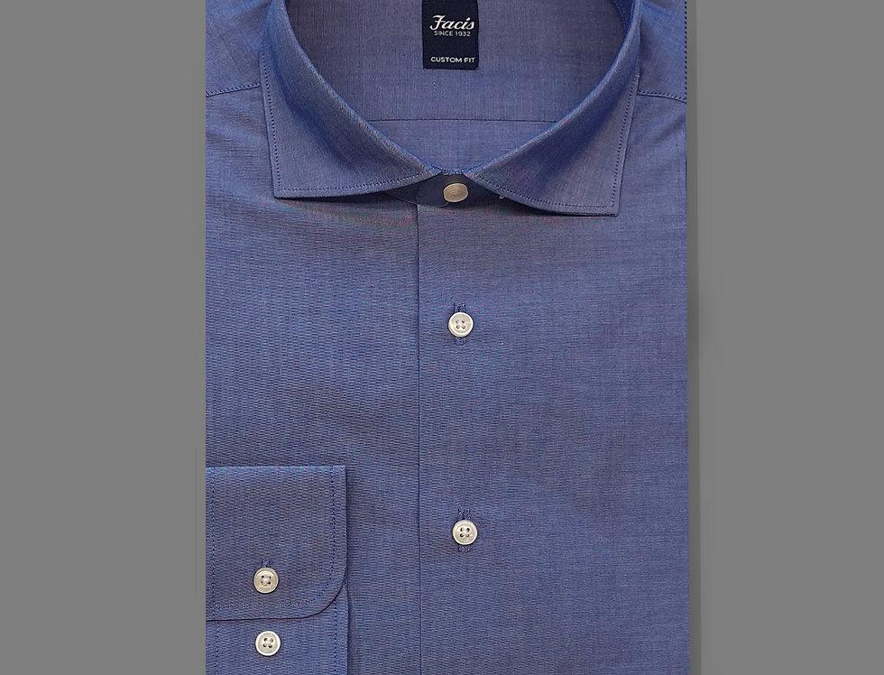 Camicia in Popeline blu medio