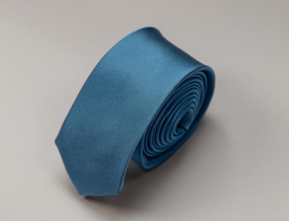 Cravatta pura seta unita turchese scuro