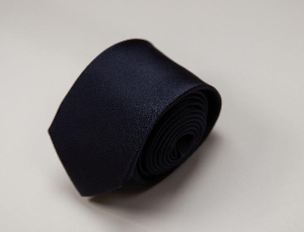 Cravatta pura seta jacquard blu