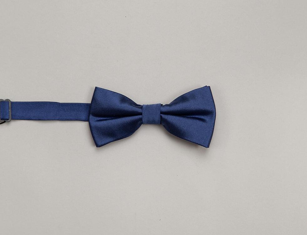 Papillon in raso di seta blu