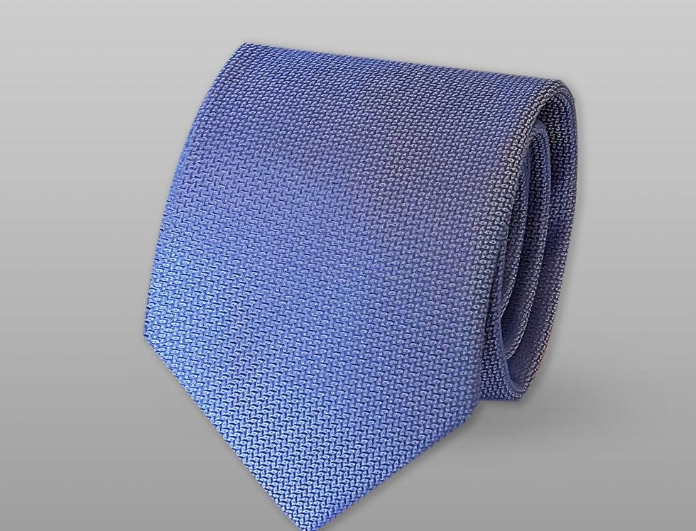 Cravatta misto seta falso unito azzurro