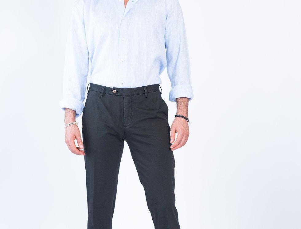 Chino vestibilita' slim nero