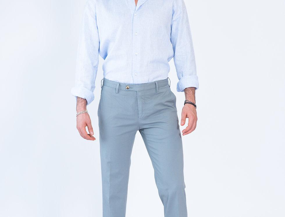 Chino vestibilita' slim  grigio