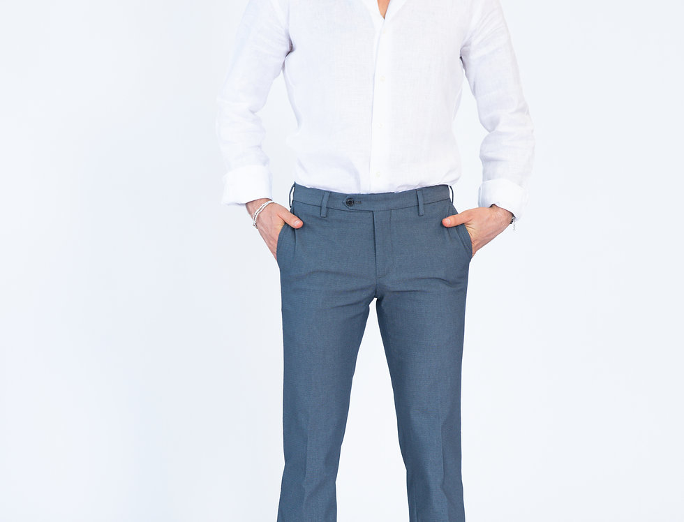 Pantalone informale vestibilita' slim blu