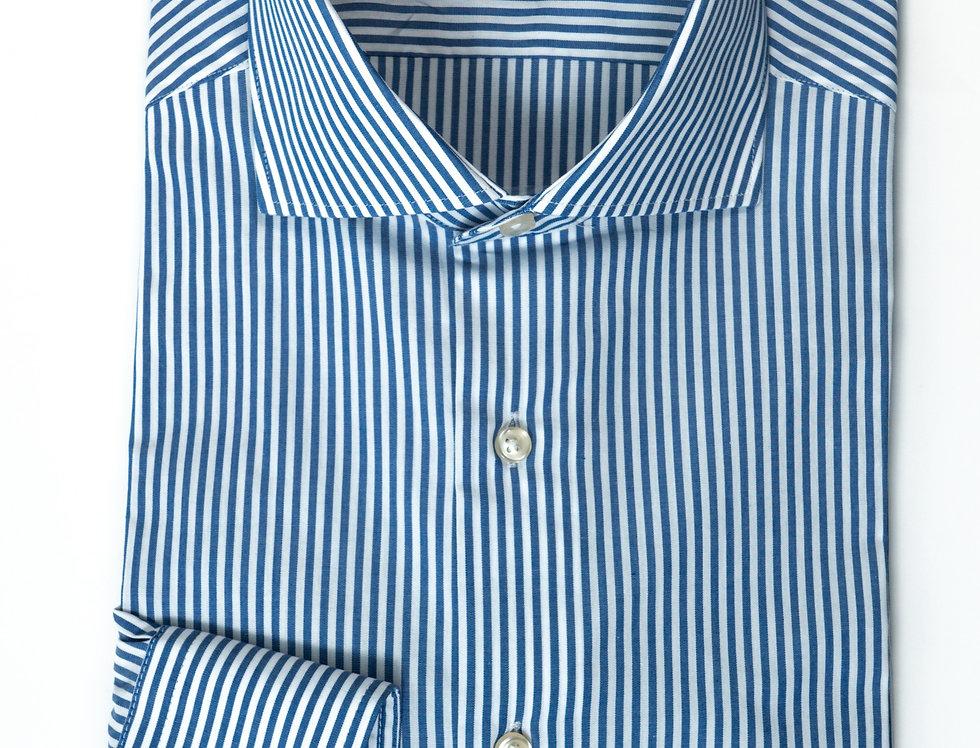 Camicia Custom Righe blu medio