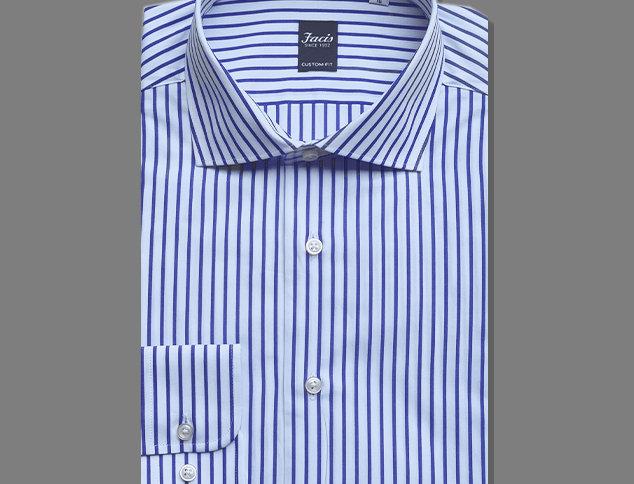 Camicia bianca a righe blu