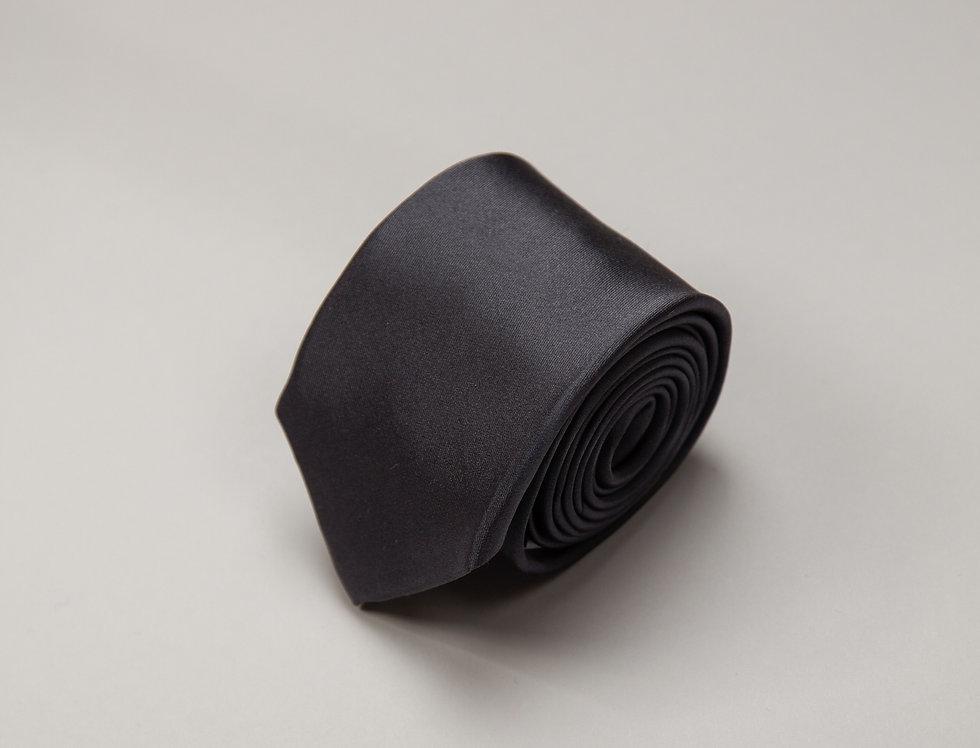 Cravatta pura seta unita grigia