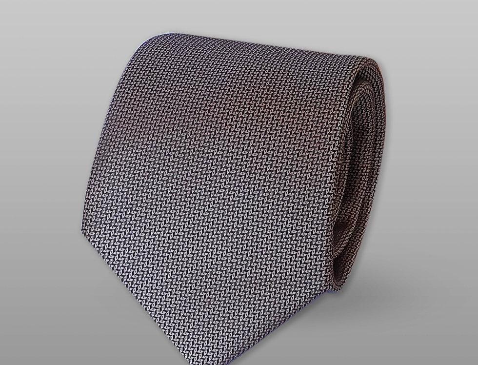 Cravatta misto seta falso unito grigio