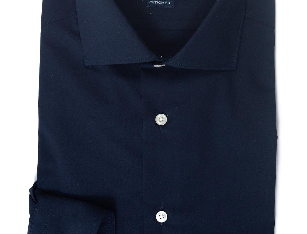 Camicia Custom Collo francese unito Blu